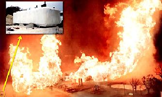 パイプライン火災事故